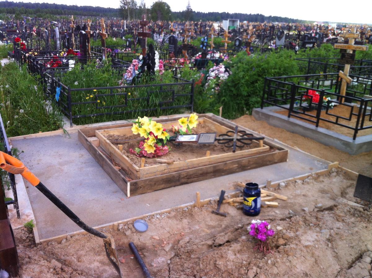 Цоколь на кладбище своими руками